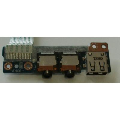 Платка с USB порт и аудио жакове за HP Envy 6-1201EA
