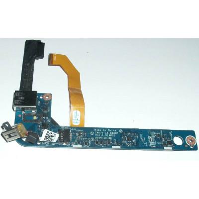 Платка с USB порт и захранващ жак за Dell Latitude 13 7350