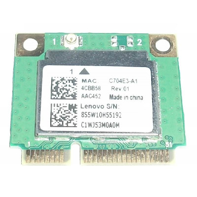 Wifi адаптер RealTek RTL8821AE 802.11a/b/g/n/ac Wireless Bluetooth 4.0 PCIe Half за Lenovo Ideapad 100-15iby