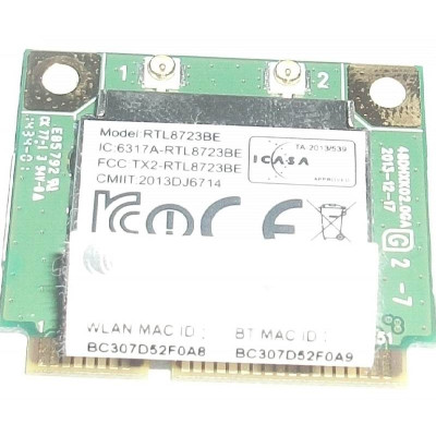 Wifi адаптер RealTek RTL8723BE Half Mini PCIe PCI-Express Bluetooth Card 802.11n за Acer Aspire E5-731
