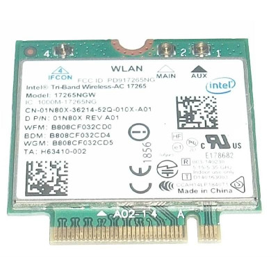 Wifi адаптер Intel® Tri-Band Wireless-AC 17265 от Dell Latitude 13 7350